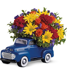 <b>'48 Ford Pickup Bouquet</b> from Scott's House of Flowers in Lawton, OK